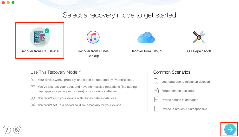 Recover Deleted Pictures from iPhone Text Messages Directly - Step 1