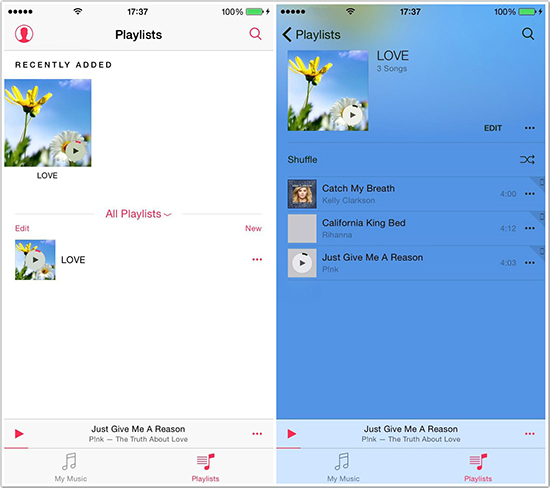 how to delete playlist on iphone 7
