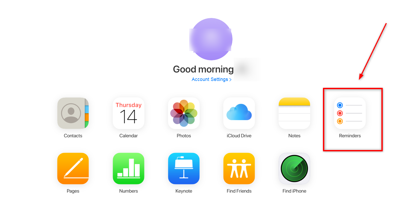 Recover Deleted Reminders from iCloud.com