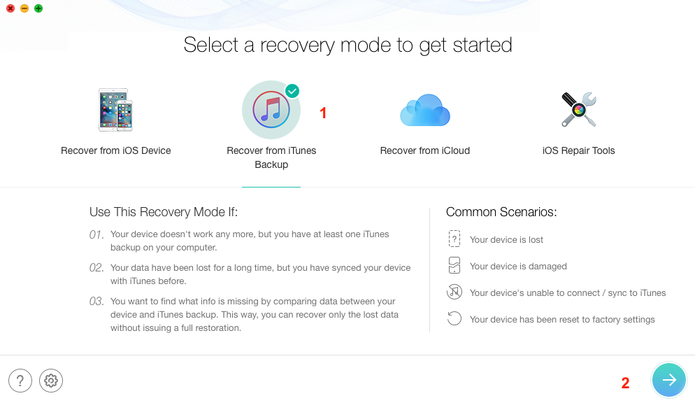 Recover Deleted iPhone Messages from iTunes Backup – Step 1