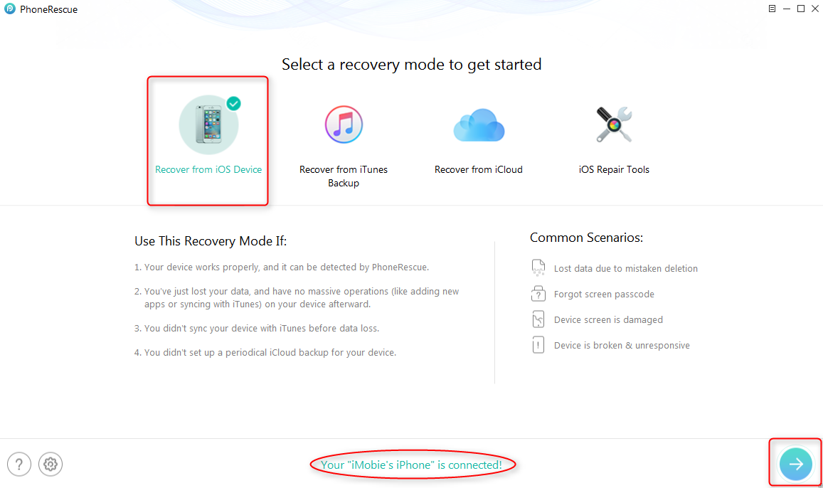How to Recover Deleted Videos from iPhone without Backups - Step 1