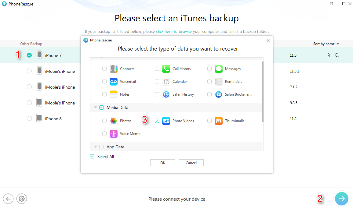 How to Recover Deleted Videos from iPhone with iTunes Backups - Step 3