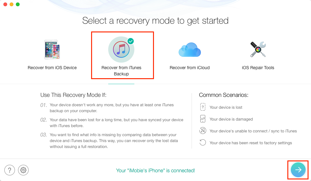 How to Recover Encrypted iTunes Backup Password for Free - Step 1