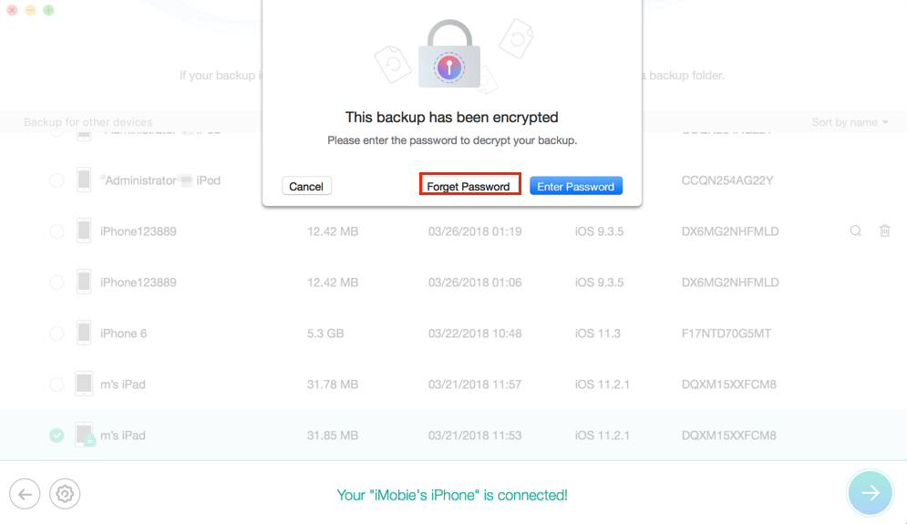 How to Recover Encrypted iTunes Backup Password for Free - Step 2