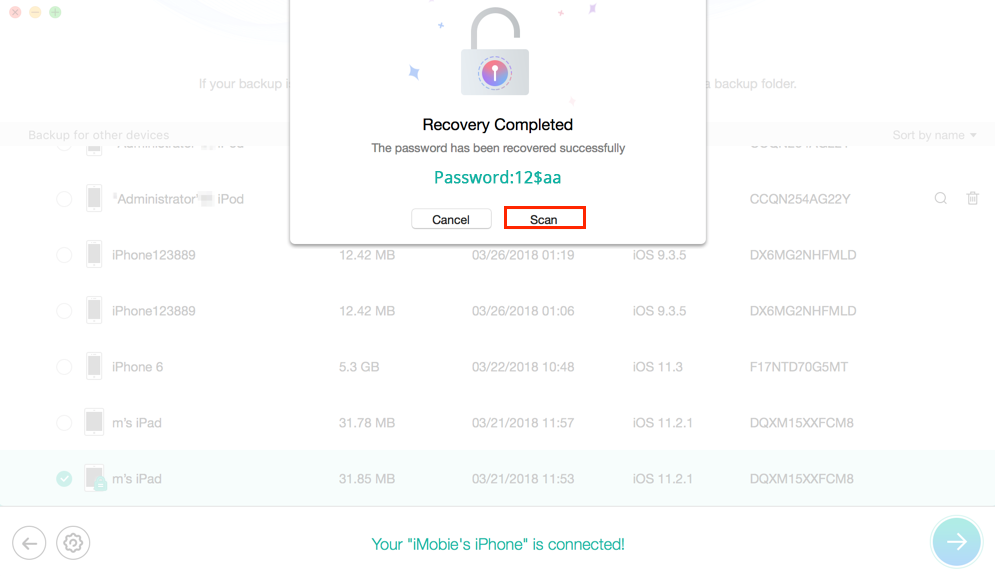 How to Recover Forgotten iTunes Backup Password for Free - Step 4
