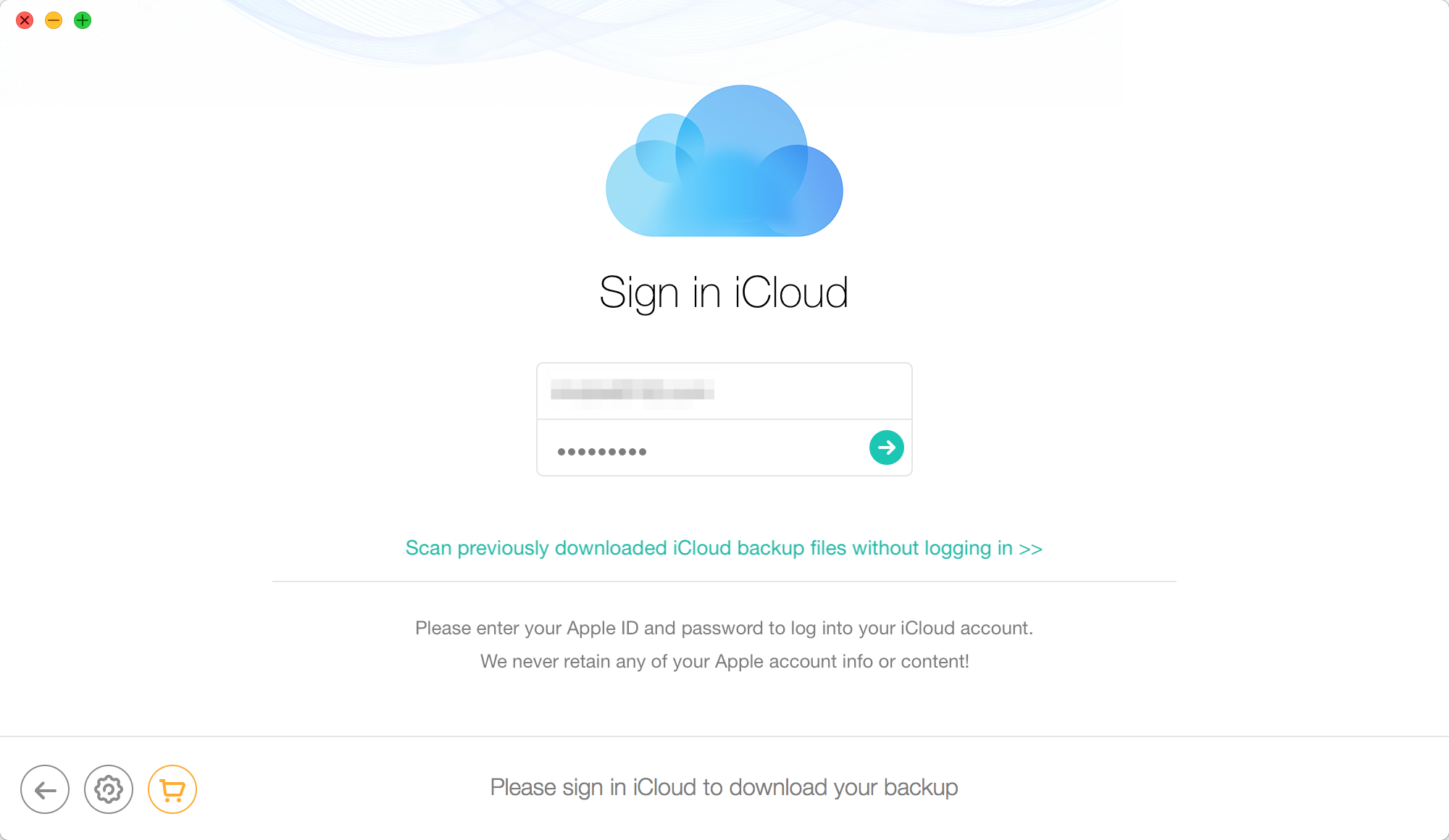 How to Fix iPhone Contacts Disappeared with iCloud Backups - Step 2