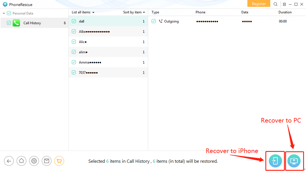 How to Recover Deleted Call History on iPhone without Backup – Step 4