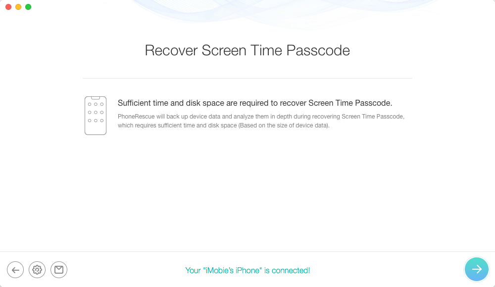 Recover Screen Time Passcode with PhoneRescue for iOS -2