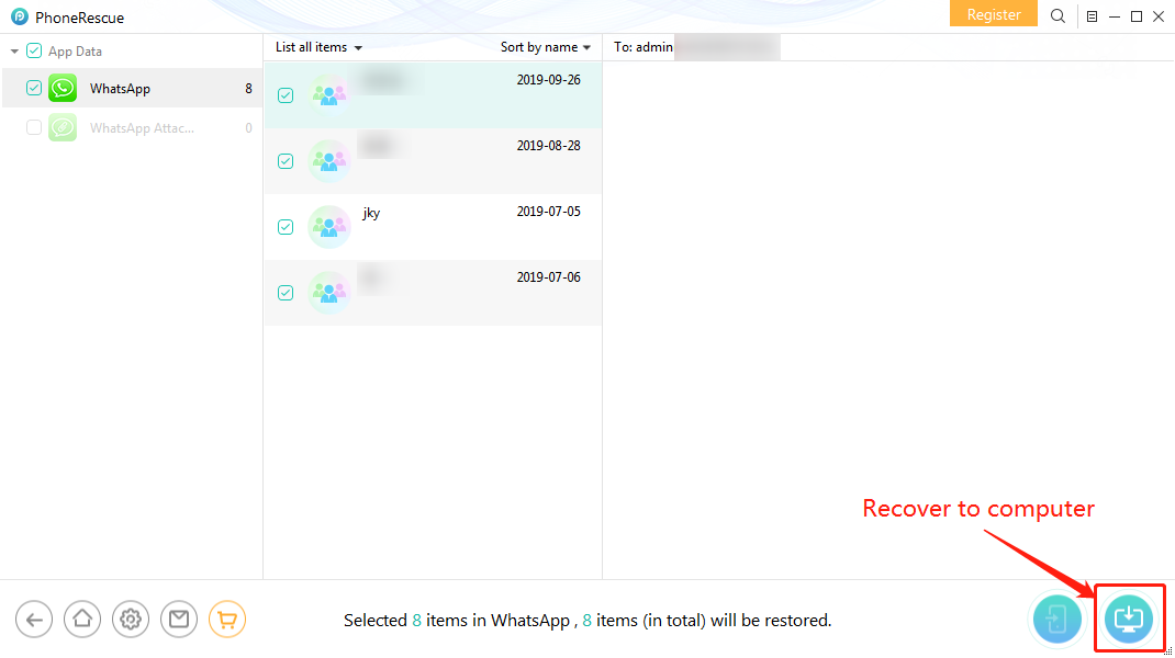 How to Selectively Restore WhatsApp from iCloud – Step 5