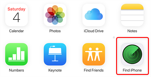 Use Find iPhone on iCloud Web