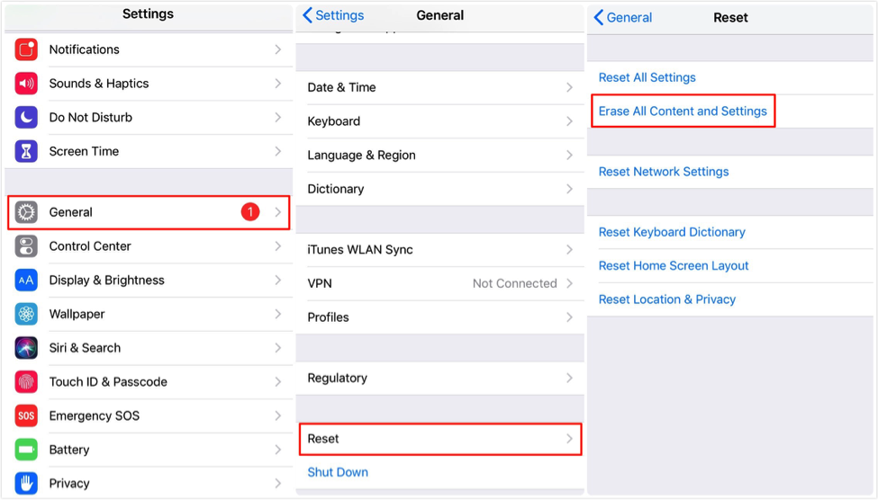 How to Remove Apple ID from iPhone/iPad via Settings – Step 1