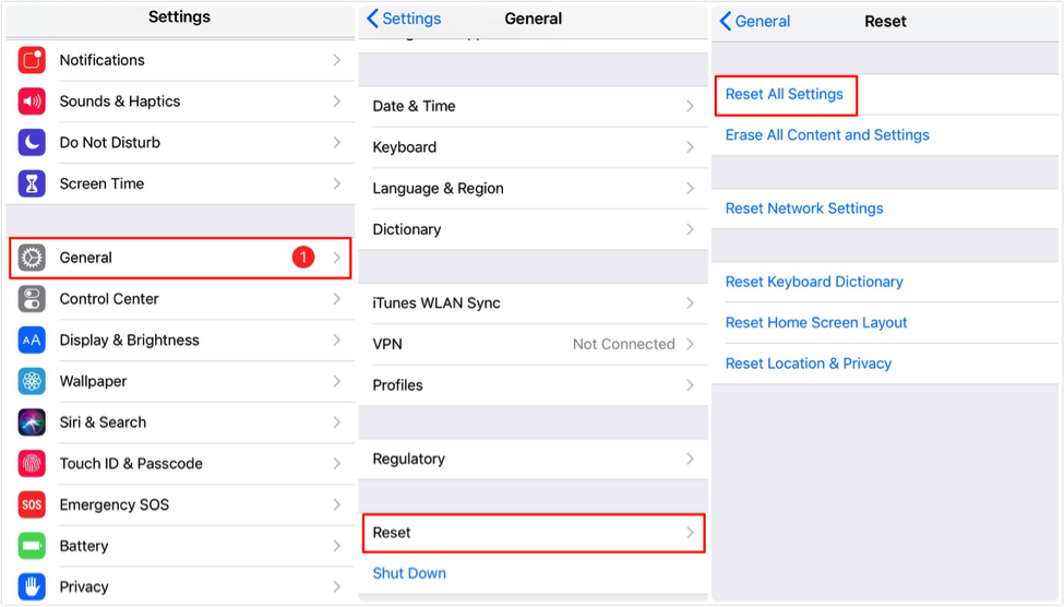 How to Remove Apple ID from iPhone/iPad via Settings – Step 2