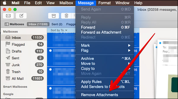 How to Remove Attachments from Multiple Emails