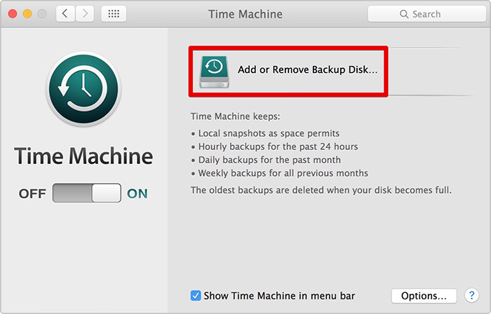 Delete Backup Disk from Time Machine on Mac