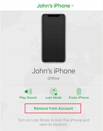 Remove your iPhone from the iCloud Account