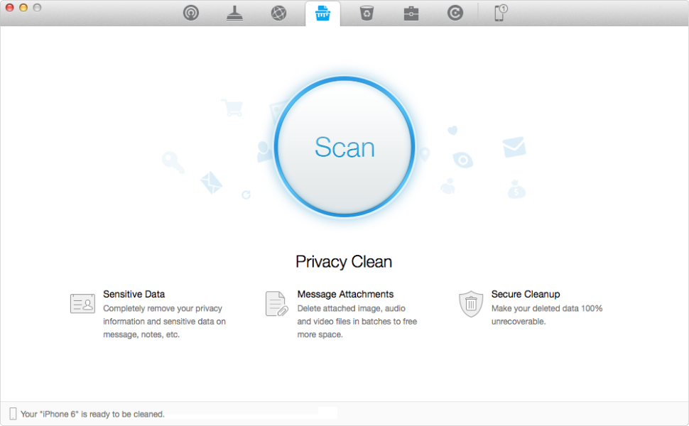 Delete Sensitive and Privacy Data on Your iPhone – Step 2