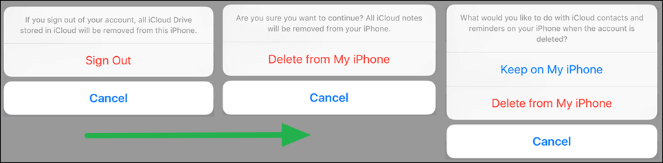 Remove iCloud from iPhone on iOS 10.2 or Earlier
