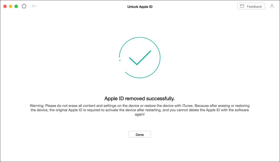 Remove iCloud from iPhone Successfully