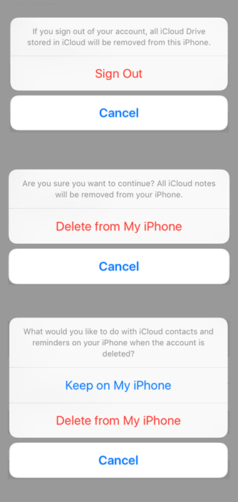 Remove iCloud from iPhone 6 in iOS 9 – Step 3