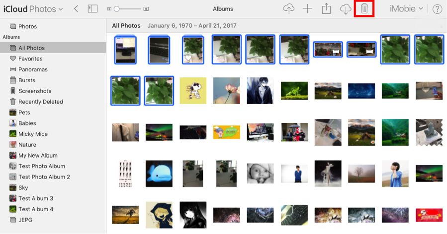 How to Remove Pictures from iCloud on Web - Step 2