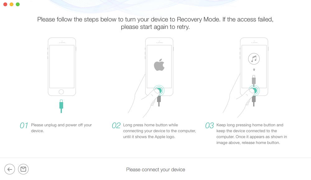 Enable Disabled iPhone via PhoneRescue for iOS - Step 2