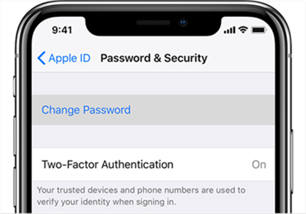 How to Unlock or Remove Locked Apple ID via Reset Password on iPhone- Step 2