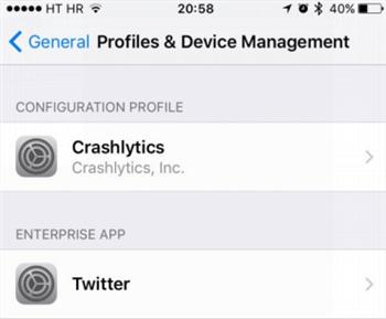 MDM Profile on iPhone/iPad