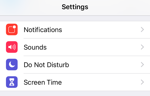 Access the Screen Time Feature