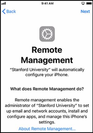 iPhone Remote Management