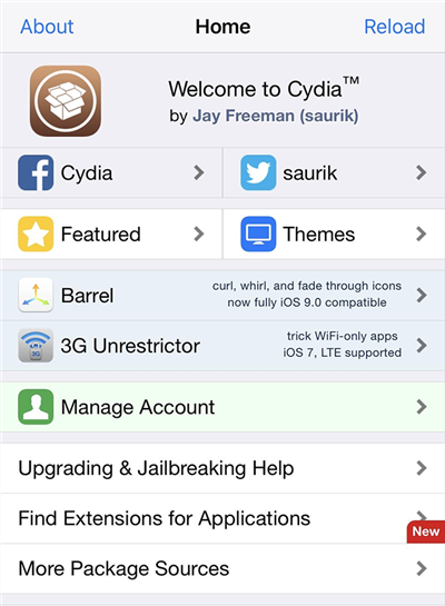 Remove the Cydia app from your iPhone