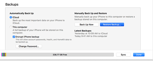 Restore a backup on your iPhone