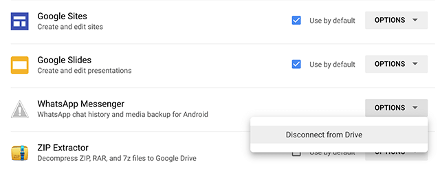Remove WhatsApp Backup from Google Drive