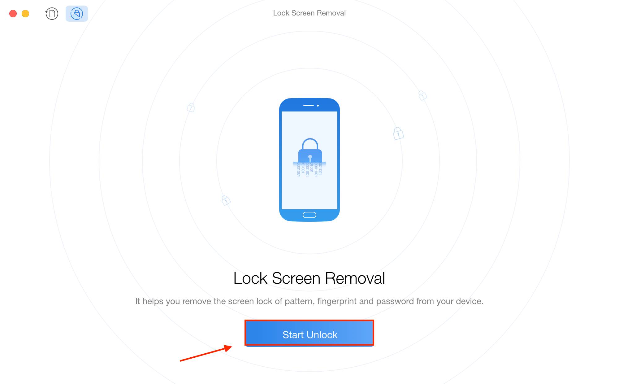 Unlock the Locked Android Phone with PhoneRescue for Android - Step 2