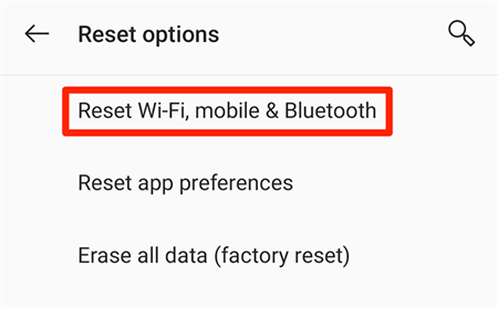 Reset Android Network Settings