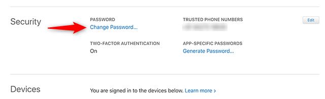 Reset your Apple ID Password