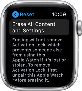 Reset the Apple Watch