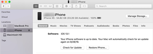 Reset An iPhone Via iTunes