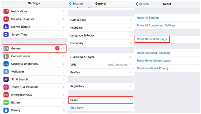 Reset Network Settings to the Factory Ones on iPhone