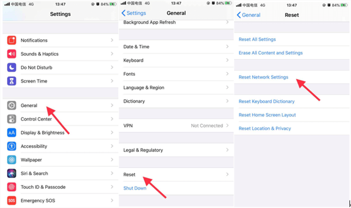 Reset Network Settings to Pair up Your Apple Watch and iPhone