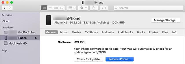 Restore an iPhone