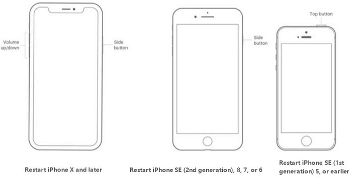 Restart Different Modes of iPhone