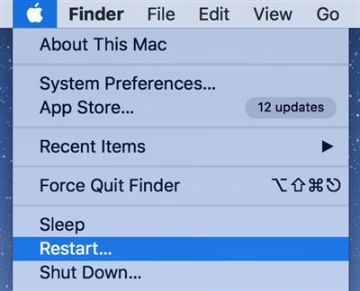 Reboot a Mac