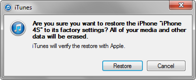 How to Restore an iPhone with iTunes