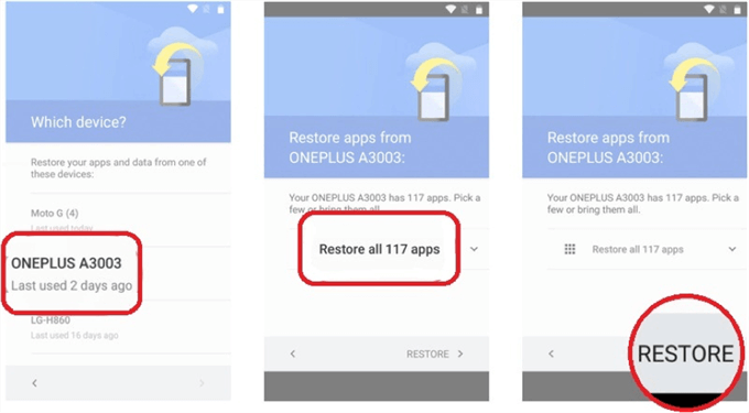 How to Restore Android from Google Drive - Step 4
