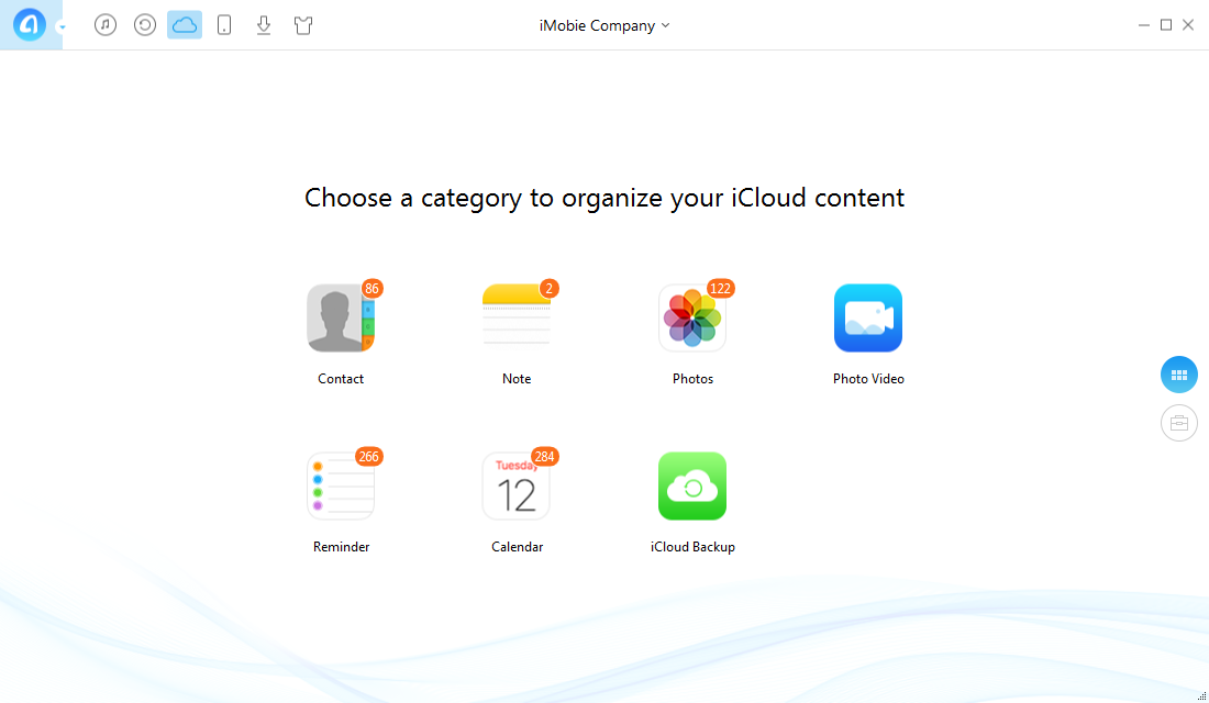 How to Access iCloud with AnyTrans – Step 3
