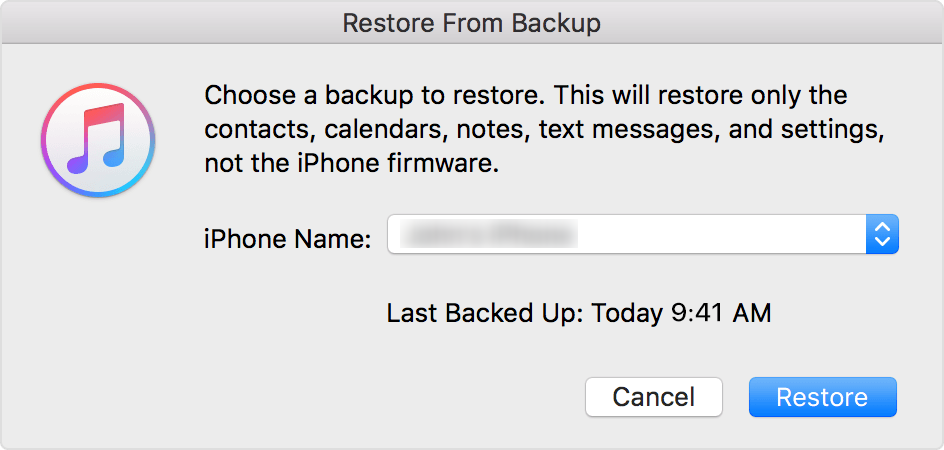 How to Restore iPhone Apps from iTunes Backup - Step 3