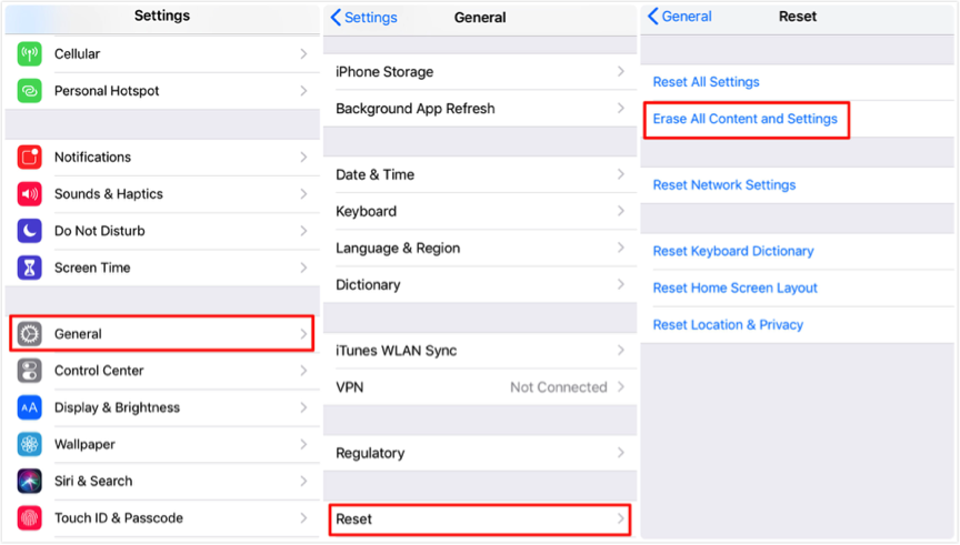 How to Restore Calendar on iPhone with iCloud - Step 1