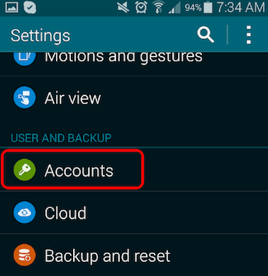 How to Restore Data from Samsung Account - Step 1