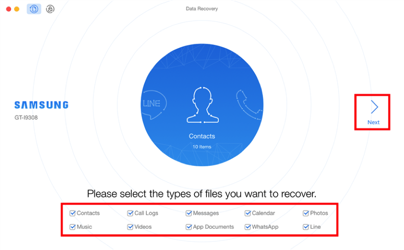 How to Retrieve Lost Data from Samsung without Backup - Step 1