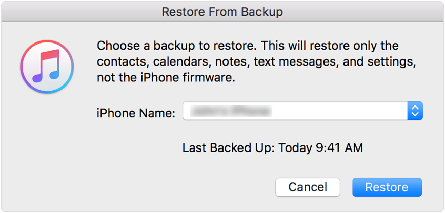 How to Restore iPhone/iPad with iTunes - Step 2